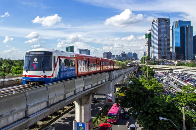 Hop onto the BTS Skytrain