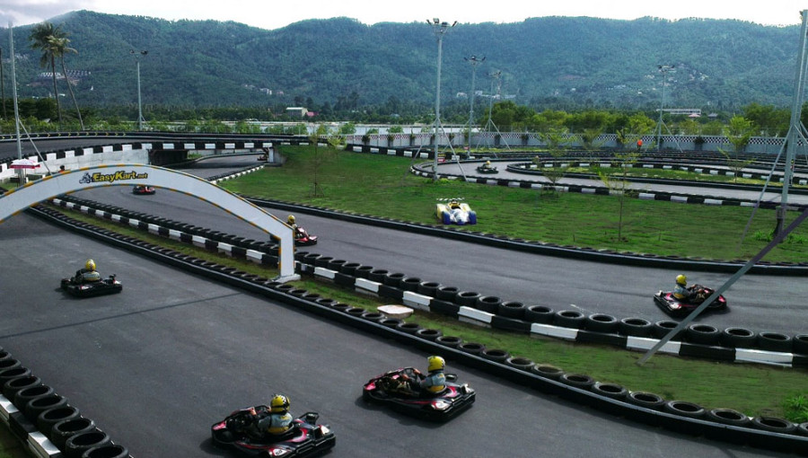 Go-karting at Easykart, Chaweng Lake