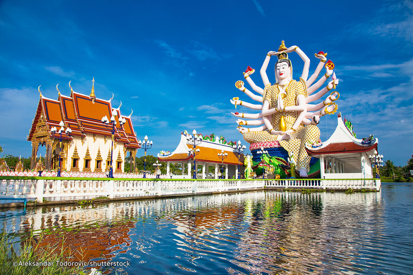 The Wat Plai Laem temple