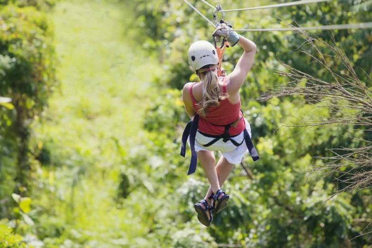 Zipline in a Flying Elephant level - things to do in Goa