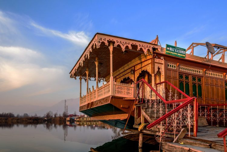 Colorful Houseboat in Srinagar