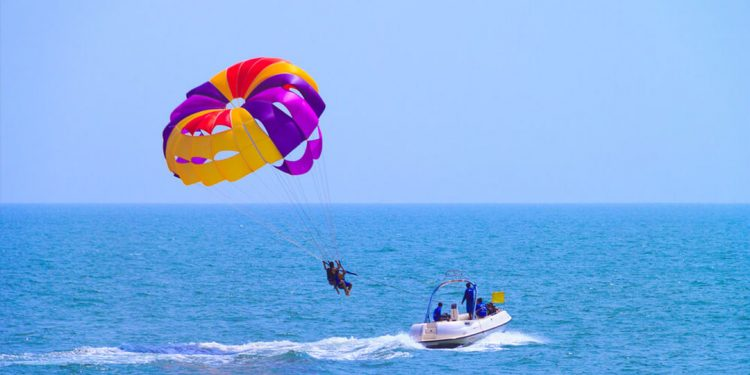 Parasail over the Kovalam Waters