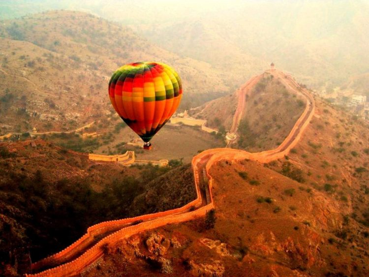 Go on a hot air balloon ride