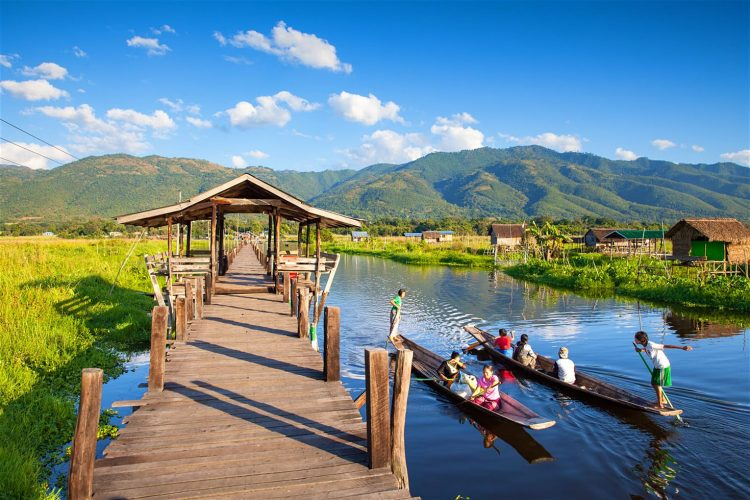 Take a Bike Ride Near the Inle Lake