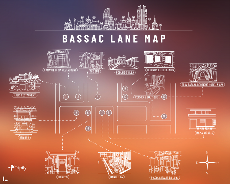 Bassac Lane Map
