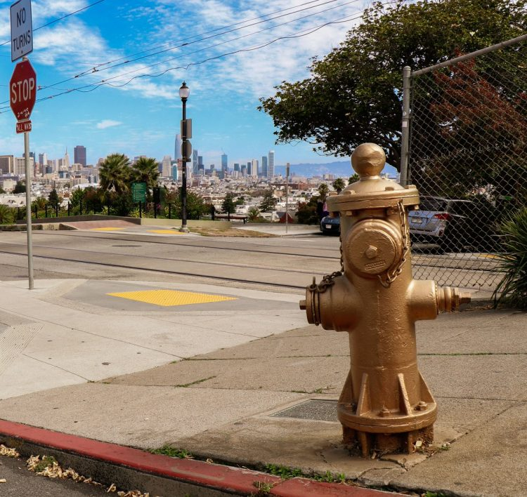 Gold Painter Fire Hydrant