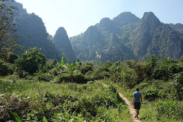 Hiking at Vang Vieng