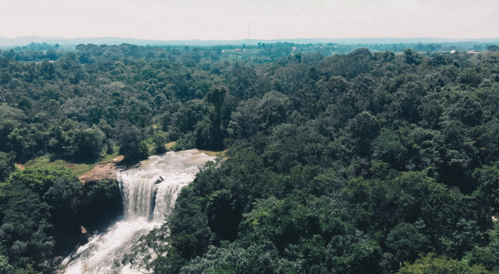 Bousra Waterfall - Look from the top