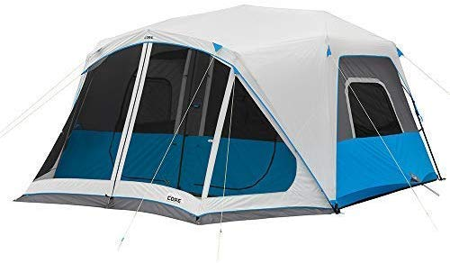 Core Lighted 10 Person Instant Cabin Tent - Instant Tents