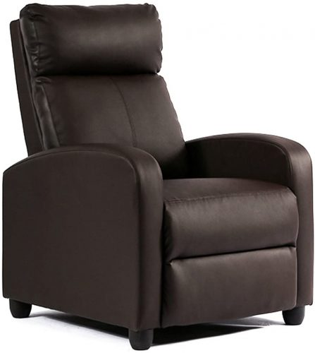 Single Reclining Sofa Leather Chair - Zero Gravity Reclining Chair