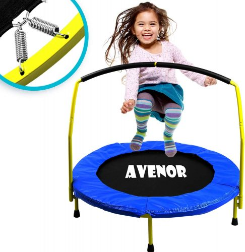 "Toddler Trampoline with Handle - 36"" Kids Trampoline - Kid Trampolines"