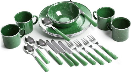 Transport camping utensils