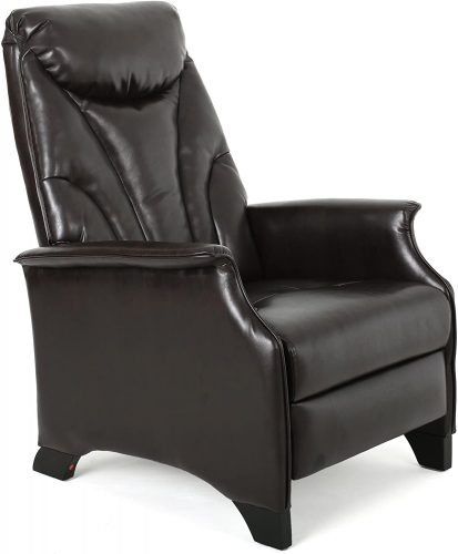 hristopher Knight Home Atlantic Stitched Bonded Leather Recliner Club Chair - Zero Gravity Reclining Chair