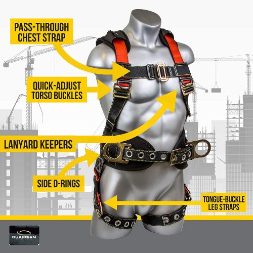 Guardian Fall Protection 11173 M-L Seraph Construction Harness