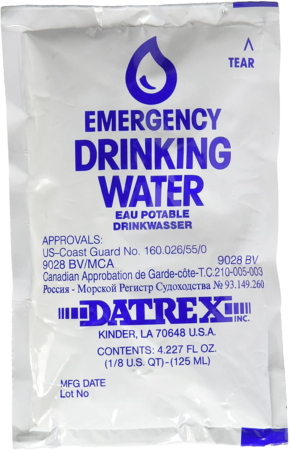 Datrex Emergency Water Pouch