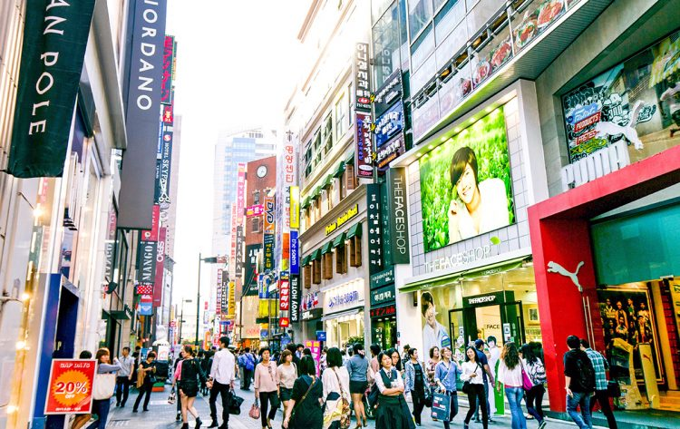 shopping place at Myeongdong