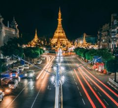 Nightlife at Yangon Myanmar