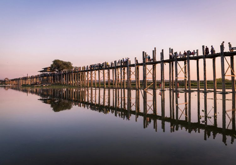 Roam around U Bein Bridge